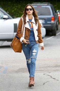 denim days. #AlessandraAmbrosio in LA.