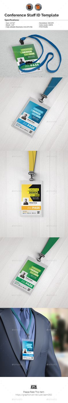 Event/Conference VIP Pass ID Template