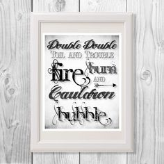 Halloween Printable, Halloween, Toil and Trouble by MinnesotaPrintCo