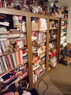 Sewing room.....shelves by Gary McReynolds....contact Old Glory in Greenwood, Mo