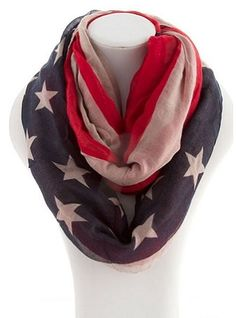 American Flag Infinity Scarf: $15.00