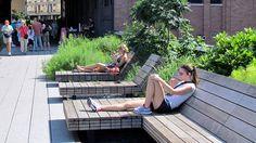 James Corner High Line Landscape Architecture NYC New York Landscape, Landscape And Urbanism, Urban Landscape, Landscape Design, High Line Park, New York High Line, Urban Furniture, Street Furniture, Kids Furniture