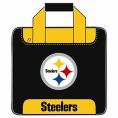 NFL Single Bowling Bag- Pittsburg Steelers by KR. $41.95. What a great bowling bag for you NFL Fans out there! Adjustable shoulder strap Zippered front accessory pocket Shoe Shelf which holds up to size 15 shoe Foam ball holder Velcro handle wrap Metal Hardware 600D fabric Embroidered with NFL team logo 5 year limited warranty. Save 30% Off!