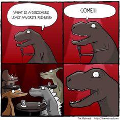 dino reindeer joke dinosaur meme dinosaur gifts dinosaurs corny jokes dad jokes - Dirty Christmas Puns