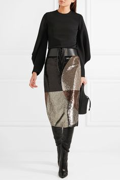 TOM FORD | Sequined stretch-satin skirt | NET-A-PORTER.COM