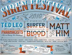 Jessica Hische - Village Voice Siren Festival