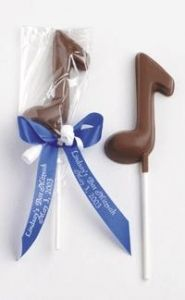 Musical Notes Chocolate Lollipops