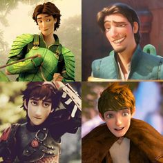 The Top Four Hottest Guys in Animation. LOL XD I refuse to believe I am attracted to a bunch of pixels!