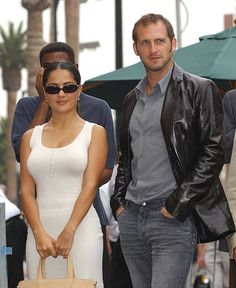 Salma Hayek Josh Lucas during Anthony Hopkins Honored With A Star On The Hollywood Walk Of Fame at Hollywood Blvd in Hollywood California United...