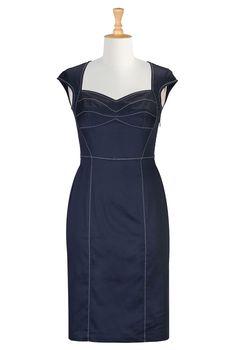 Navy Blue Dresses , Plus Clothing For Women Shop women's designer fashion - Little Black Dress - Day-to-Evening Dresses - Day Dresses - | eShakti.com