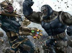 Darkseid vs Thanos by George Evangelista