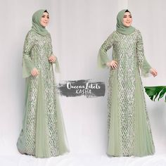 Pre Order KASHA Dress + Pashmina By Queenalabels . - Hijab Combine - Another! Dress Brukat, Kebaya Dress, Dress Pesta, Mom Dress, Modern Hijab Fashion, Abaya Fashion, Muslim Fashion, Fashion Dresses, Hijab Evening Dress