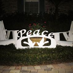 Outdoor Christmas Peace Sign