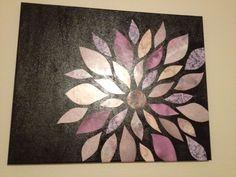 scrapbook paper on canvas