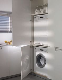 kitchen cupboards for washing machines - Google Search