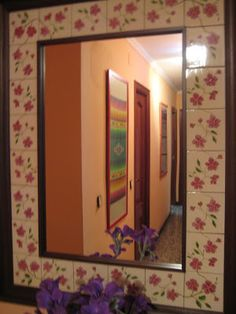 ceràmica pintada a mà, mirall