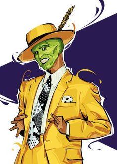 the mask jim carrey Cartoon Kunst, Cartoon Art, The Mask Cartoon, Desenho Scooby Doo, Yellow Picture Frames, Art Sketches, Art Drawings, Mask Drawing, Masks Art