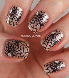 Nail Art Design Pictures 2 | Avon Halloween Nail Art Design Strips All Webbed Out 2