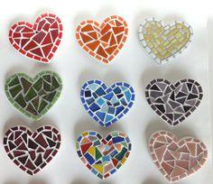 Mosaic Heart Magnets