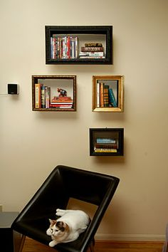 Illusory Picture Frame Bookshelves diy bookshelf - Famous Last Words Picture Frame Shelves, Picture Frame Art, Frame Shelf, Box Shelves, Drawer Shelves, Shelving Units, Wall Shelves, Diy Furniture Projects, Diy Projects