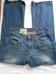 Hollister Mens Boot Cut Jeans Size W33/L32 Measured W34/L 32 1/2 GUC LQQK Free Shipping
