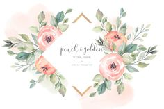 Peach and golden beautiful floral frame Free Vector Wedding Invitation Card Template, Invitation Card Design, Floral Wedding Invitations, Invitation Cards, Wedding Frames, Wedding Cards, Adobe Illustrator, Flower Logo, Arte Floral