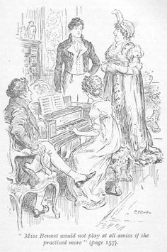 Miss Bennet would not play at all amiss if she practised more - From undated Nelson and Sons edition of Pride and Prejudice