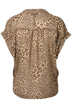 Animal Side Tuck Blouse, TopShop. I would like to see this paired with almost any high-waisted skirt or pant, even the right short...