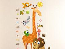 vinilo decorativo medidor infantil jirafa animales