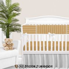 For our modern + minimal momma's out there. This Mustard Gold modern nursery look is complete with hand drawn stripes + coordinating Swiss cross pattern. We love how this look is modern and simple - leaving all the room for the baby to shine. Available in (9) color ways. Baby Boy Bedding Sets, Custom Baby Bedding, Baby Nursery Bedding, Boho Nursery, Nursery Decor, Baby Crib, Girl Nursery, Girl Cribs, Gender Neutral