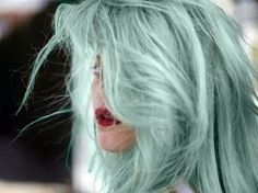 "This color is among my top favs ""mint blue hair tumblr - Google Search"""