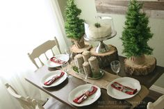 Rustic Christmas Tablescape.