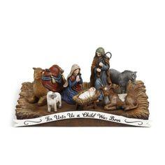 For Unto Us Nativity Figurine   -