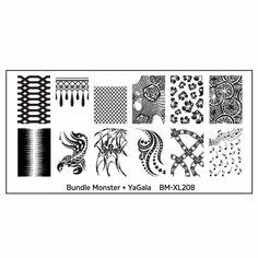 Blogger Collaboration Nail Art Polish Stamping Plates - BM-XL208, YaGala