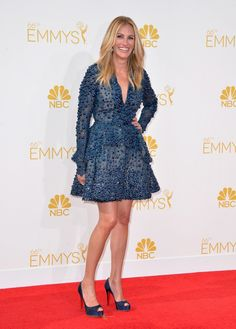 Julia Roberts in Elie Saab Fall 2014 Couture with Christian Louboutin pumps - 2014 Emmy Awards