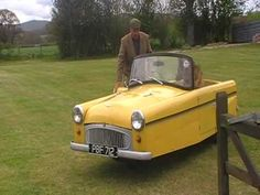 A video of a Bond Minicar Classic Cars British, British Car, Microcar, Weird Cars, Over The Years, Bond, 1960s, Action, Youtube