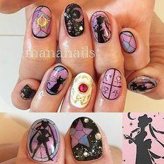 pastel goth nails nail art