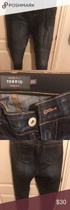 Torrid Bombshell jeans Dark washed bombshell skinny jeans torrid Jeans Skinny