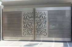 Stainless Steel HPL Sheet Gate, Designer Stainless Steel Gate, Ss Gate, स्टेनलेस स्टील गेट - Dhillon Gate Grill Workshop And Fibresheet, Amritsar Iron Main Gate Design, Gate Wall Design, House Main Gates Design, Front Gate Design, Garage Door Design, Main Door Design, Steel Railing Design, Steel Grill Design, Staircase Design