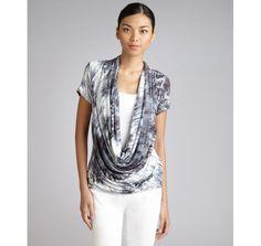 deep cowl neck t-shirt