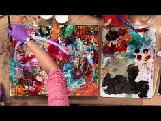 Acrylic Painting: Mixed Media Flowers - YouTube
