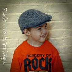 Crocheted Scally Cap. Boys Hat. Spring Toddler Hat.