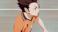 chasing the stars. Haikyuu Volleyball, Volleyball Anime, Haikyuu Nishinoya, Haikyuu Anime, Haikyuu Characters, Anime Characters, Dark Fantasy, Anime Love, Anime Guys