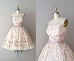 vintage 1950s dress / 50s lace dress / Alyssum dress. via Etsy.