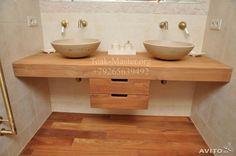 Столешница или стол из дерева Тикового для Ванной
