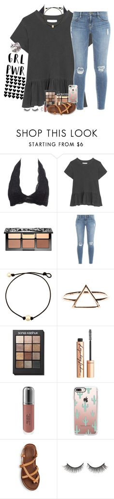 """"""""""" by southernstruttin ❤ liked on Polyvore featuring Charlotte Russe, The Great, Sephora Collection, Frame, Sonia Kashuk, Charlotte Tilbury, Revlon, Casetify and Rimini"""