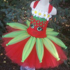 Strawberry Tutu Dress Strawberry Kiss Shopkins Birthday Party Birthday Outfit Halloween Lippy Lips K Shopkins Tutu, Shopkins Costume, Shopkins Halloween, Shopkins Clothes, Shopkins Face, Strawberry Costume, Strawberry Dress, Kiss Costume, Tutu Costumes