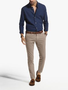 STRUCTURED TROUSERS - Chino trousers - Trousers - MEN - United Kingdom