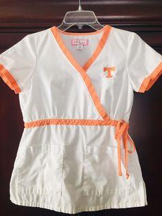 53a320f6917 Women's White Koi University of TN Mock Wrap Scrub Top Size XS #fashion  #clothing