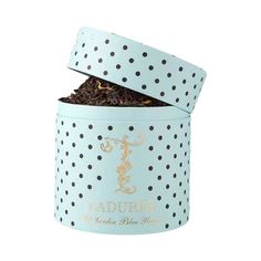 Order Jardin Bleu Royal Loose Tea from Ladurée Paris shipped anywhere in the USA. Laduree Paris, Gourmet Food Gifts, Royal Tea, Sweet Spice, Bleu Royal, Royal Garden, Wild Strawberries, Tea Blends, Rose Petals
